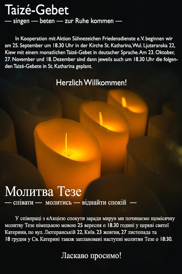 Taize Gebet Werbung